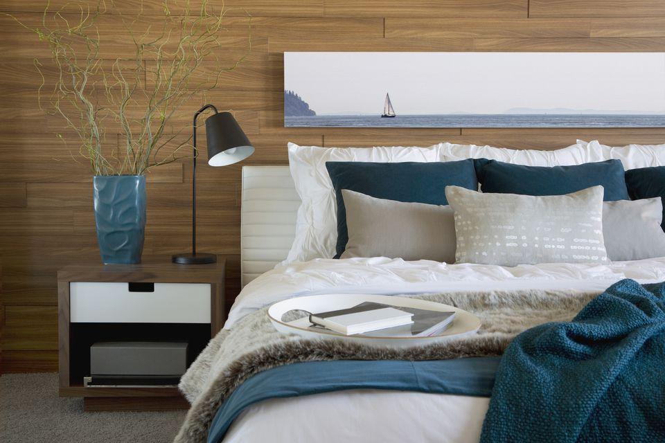 contemporary organic blue room