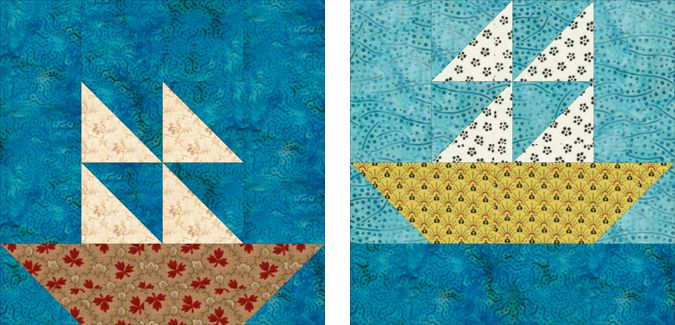 Easy Sailboats Quilt Pattern with 2 Quilt Blocks : sailboat quilt pattern - Adamdwight.com