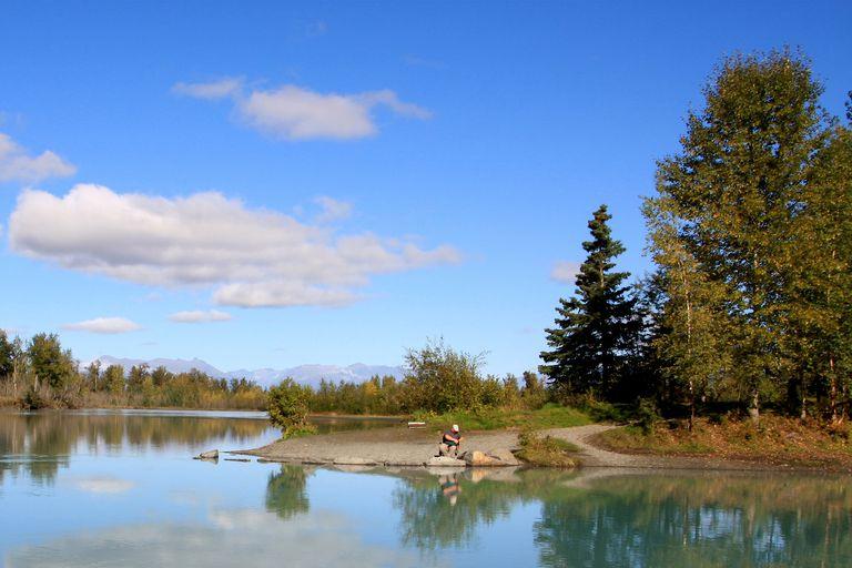 The Knik River near Palmer, Alaska