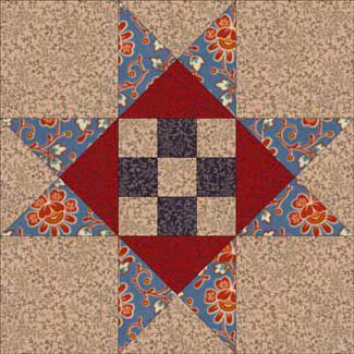Dolly Madison Star Quilt Block Pattern