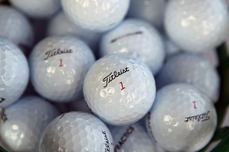 Titleist golf balls with the number 1