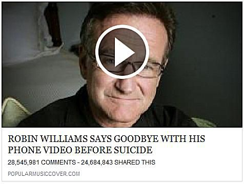 Robin Williams Says Goodbye With His Phone Video Before Suicide