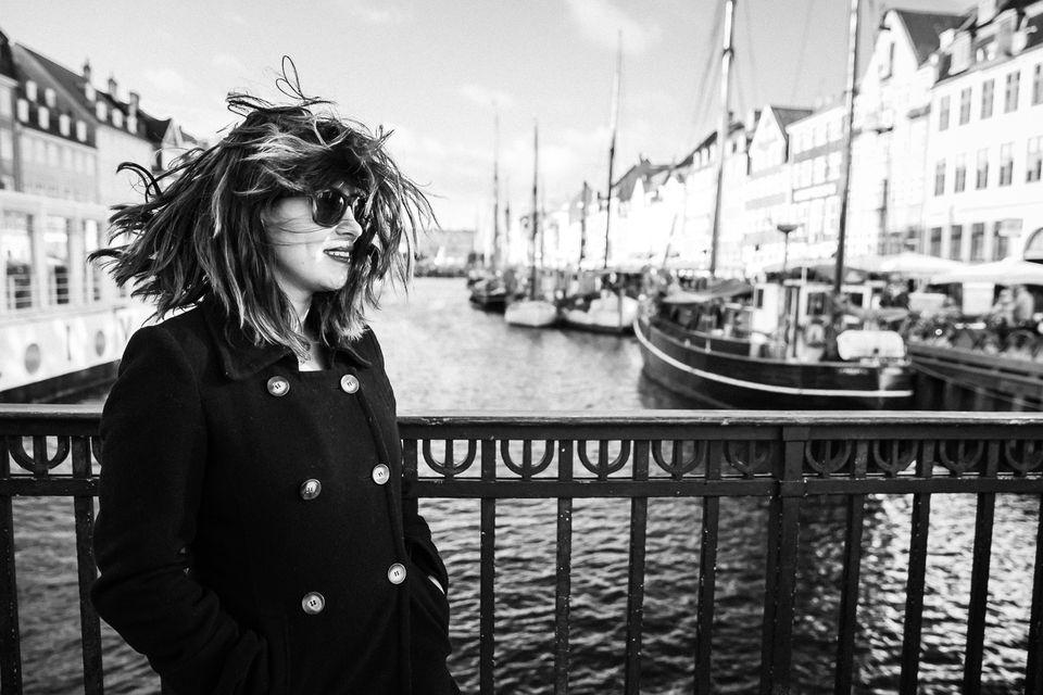 Woman in Copenhagen harbor
