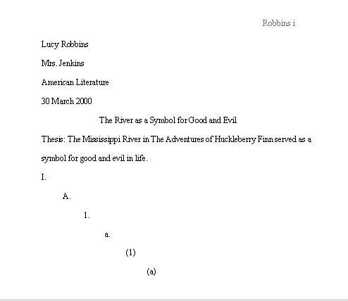 mla research paper title