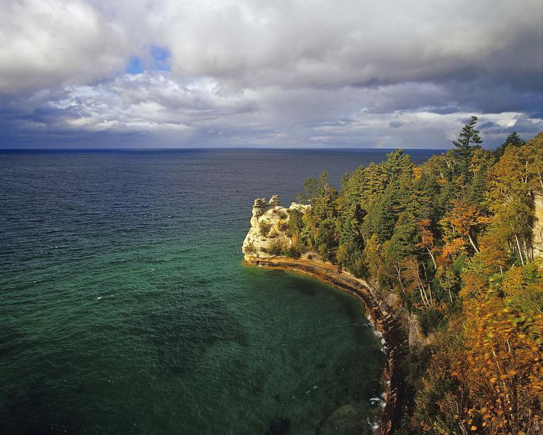 Miners Castle, Pictured Rocks National Lakeshore, Munising, Michigan, USA