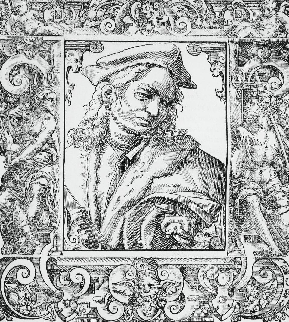 16th Century Engraving of Italian Physician Alessandro Achillini