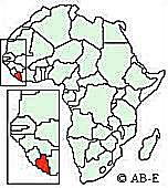Where in Africa is Liberia?