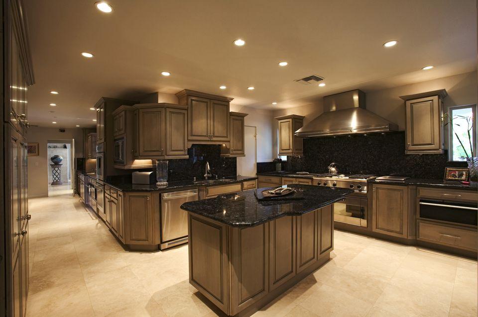 Recessed Lights in Modern Kitchen
