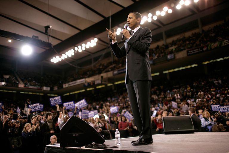 A political speech can fall under several categories of speech acts