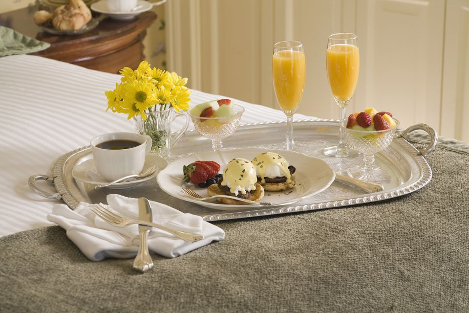 Mother's Day Breakfast in Bed with a Fresh Mocktail Drink