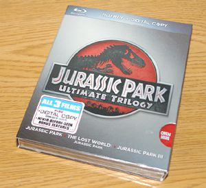 Jurassic Park Ultimate Trilogy Blu-ray Disc Package - Photo of Front Cover