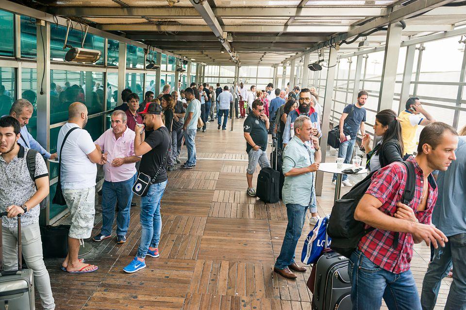 Smoking area at Ataturk Airport