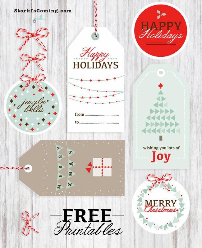 41 sets of free printable christmas gift tags negle Gallery