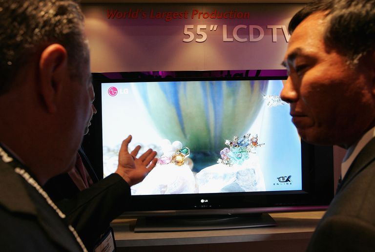 LCD On Display At Consumer Electronics Show