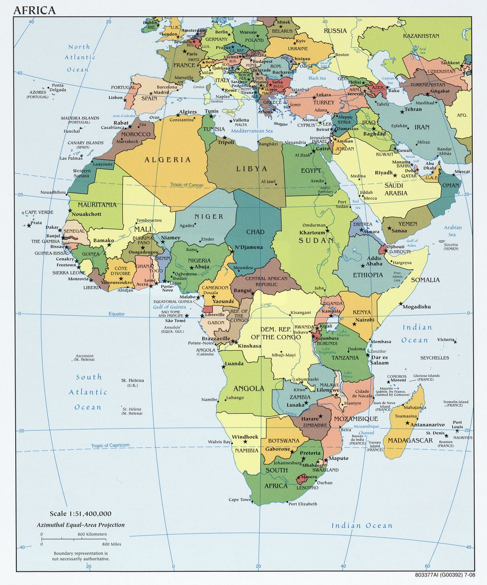 Various Maps Showing How Big Africa Is - Africa map
