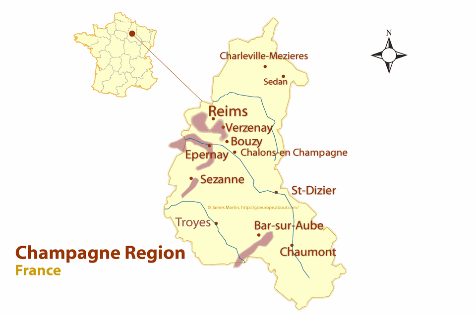 Champagne Region Map and Guide to the Best Cities