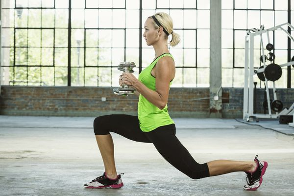 The lunge exercise.