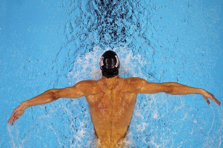 Swimmer Michael Phelps and building swimming muscle
