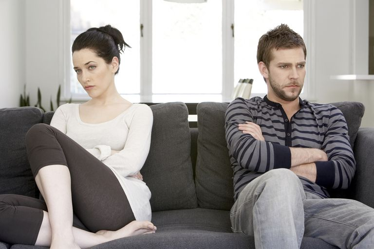 Couple struggling with issues