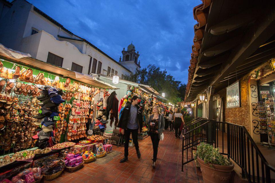The Mexican Marketplace at Olvera Street, El Pueblo de Los Angeles