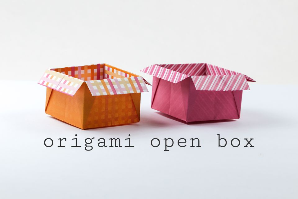 origami box with flaps tutorial