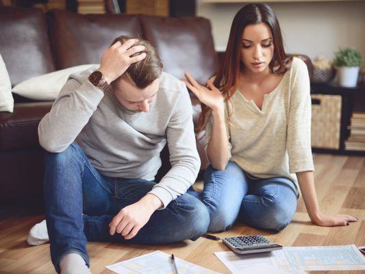 Couple trying to figure out budget