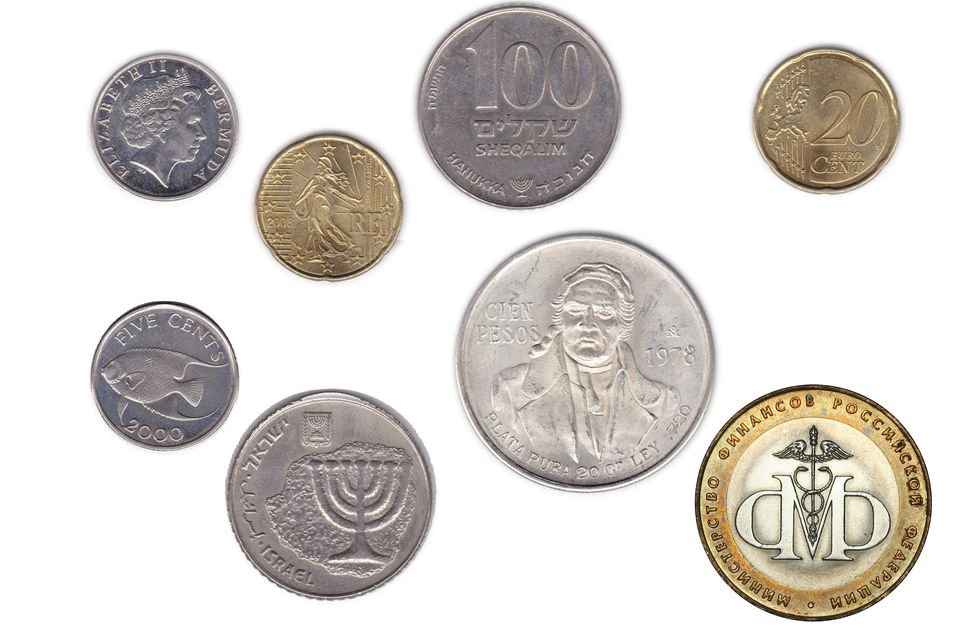 A Variety of Foreign Coins
