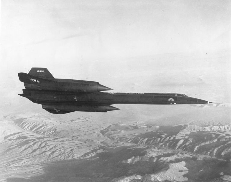 SR-71 Blackbird in flight