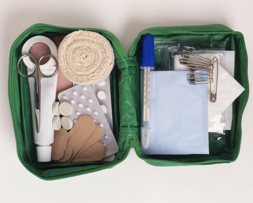 Travel first aid kit in soft case