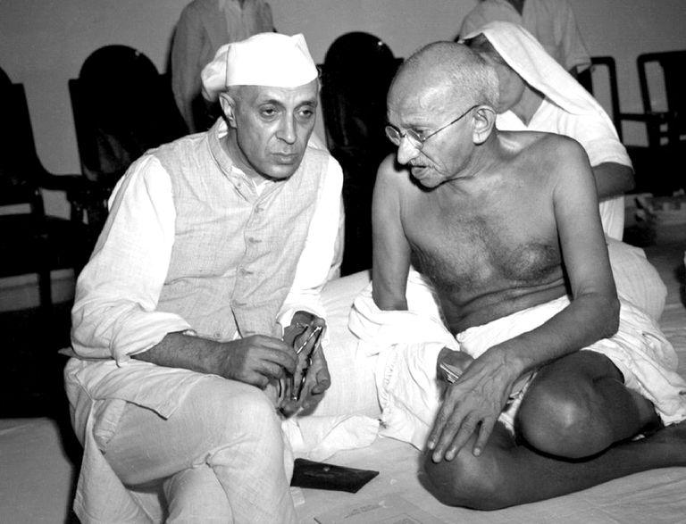 Gandhi & Nehru