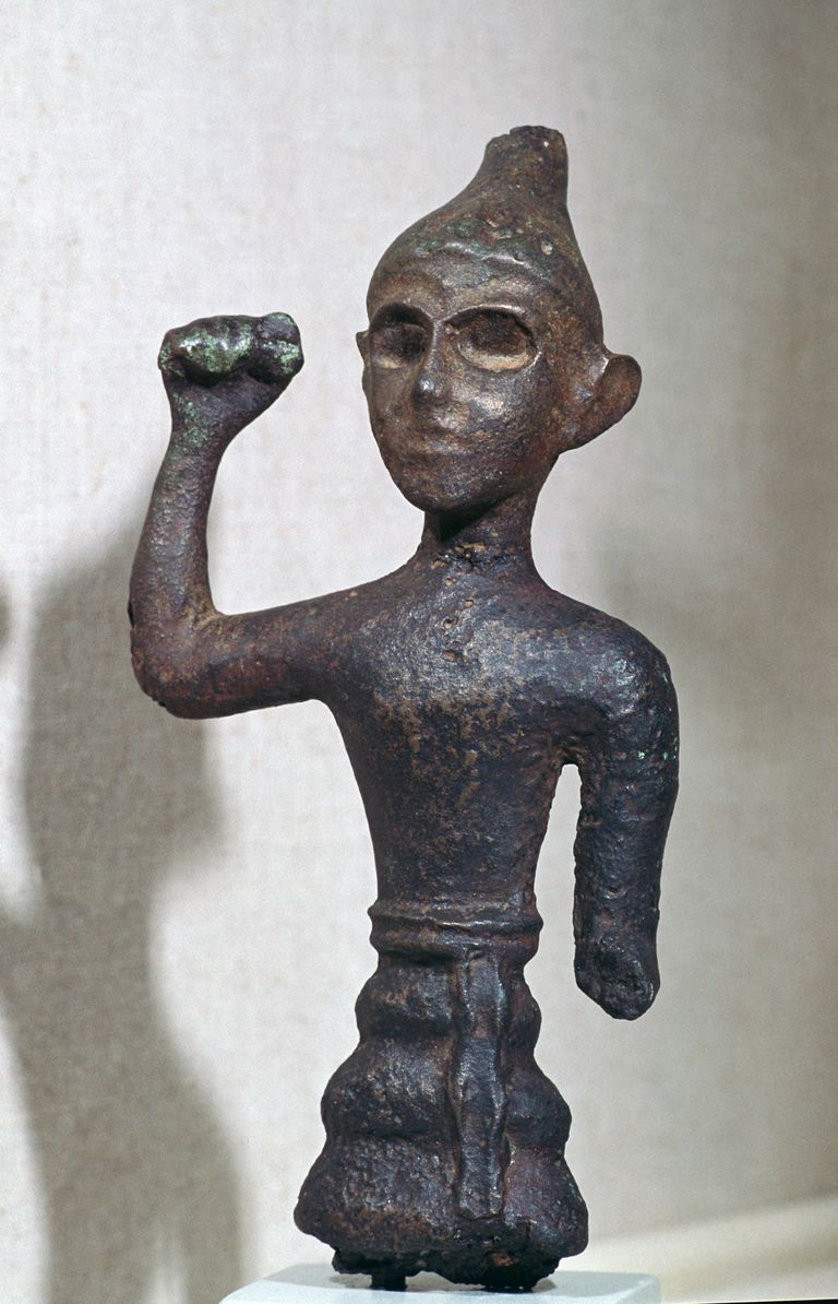 Bronze figure of a Canaanite deity, 16th century BC.