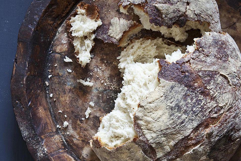 Ripped sourdough bread