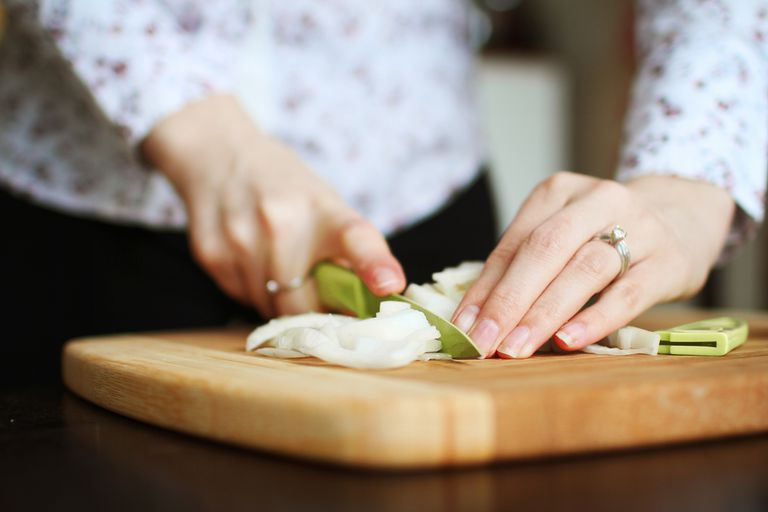 Cooking and chopping onions