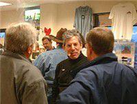 Arthur Zaretsky Talking to Customers at the Famous Smoke Shop