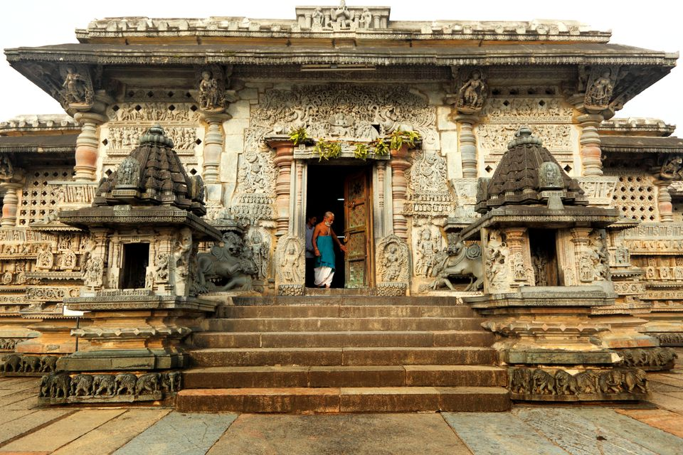 One of the magnificent temples of Hoysala Architecture in Belur Karnataka.