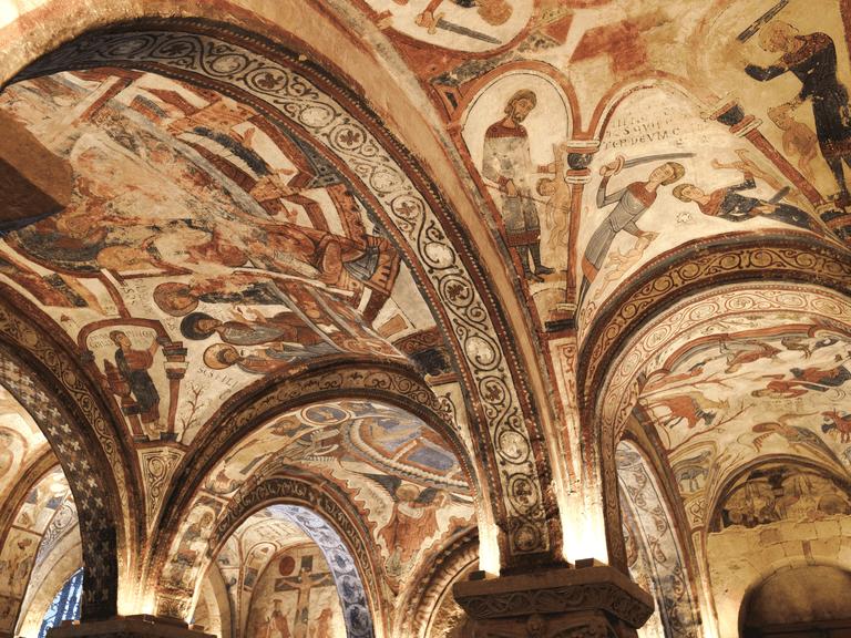 Rulers of Leon and Castile - 12th Century Frescoes - San Isadoro Basilica, Leon, Spain