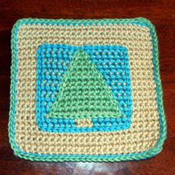 Pine Tree Afghan Square