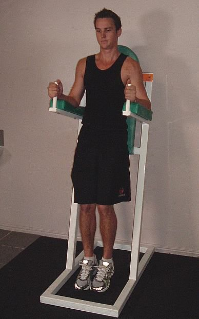 How to Do the Captain's Chair Hanging Leg Raise
