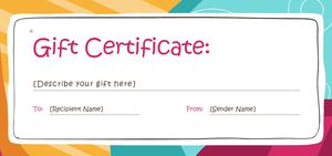 173 free gift certificate templates you can customize free gift certificate templates from gift templates yelopaper Gallery