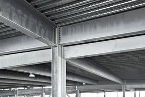 Galvanized steel in a parking garage