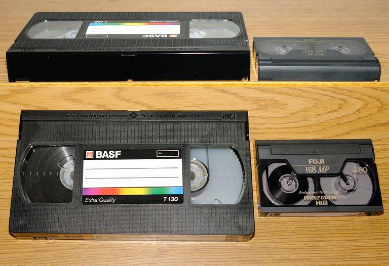 8mm/VHS Video Cassette Size Comparison