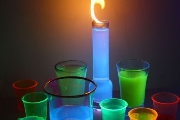 These drinks flame and glow in the dark.