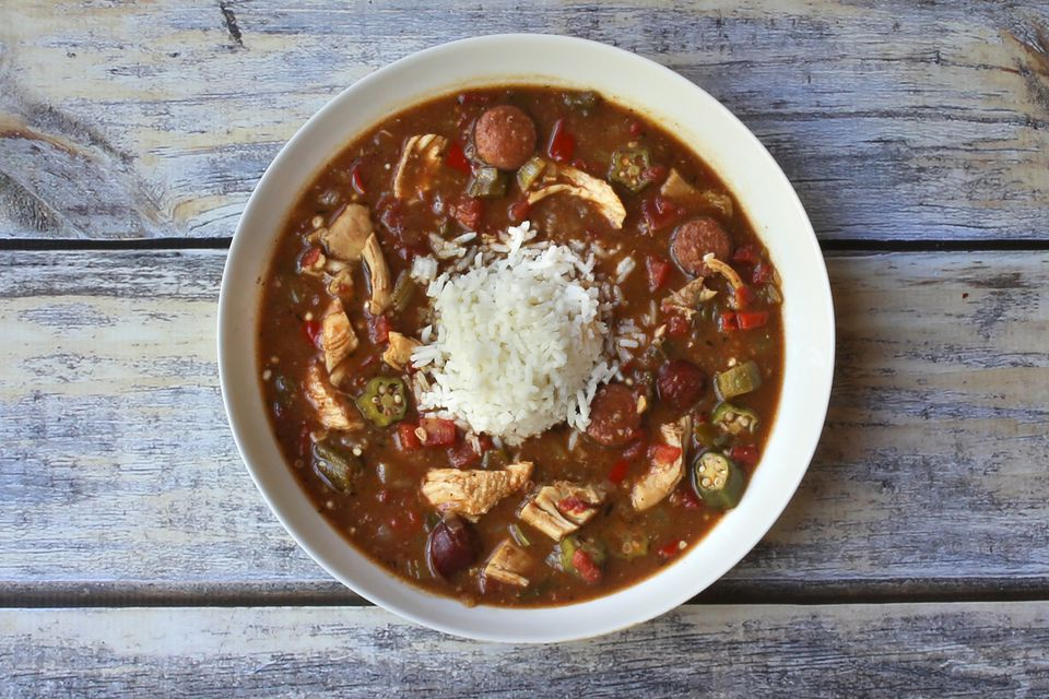 Chicken and Sausage Gumbo With Tomatoes