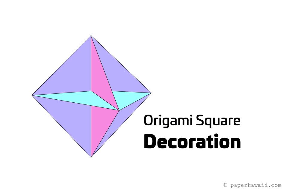 origami modular hanging decoration 01