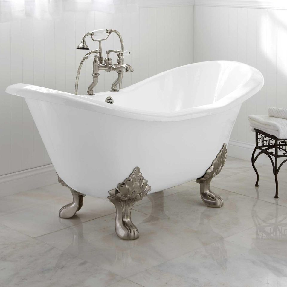 6 foot clawfoot tub. Arabella Double Slipper Tub Clawfoot Tubs to Fit Your Space  And Budget