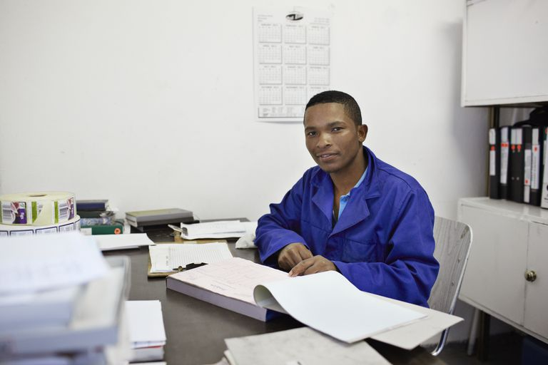 Portrait of manager at small factory