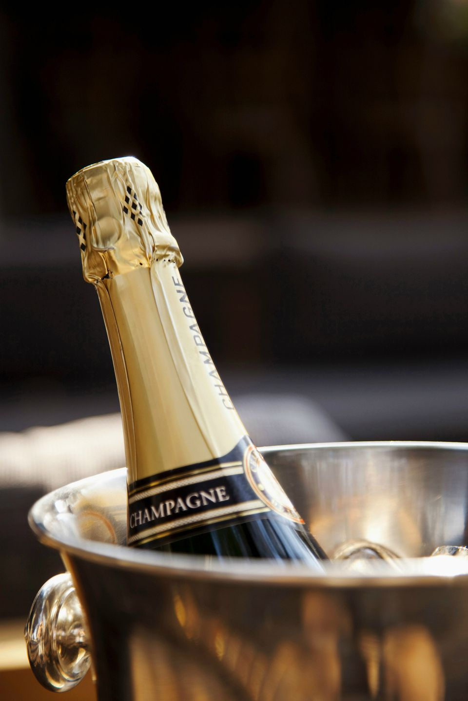 Champagne chilling in bucket