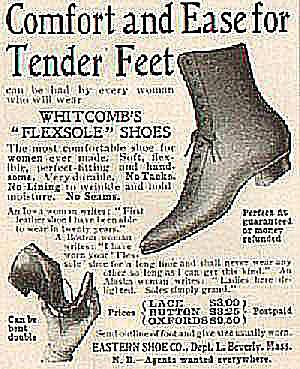 High Button Shoes Sold Through Ladies Home Journal in 1904
