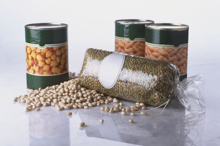 Canned beans and dried lentils are good foods to buy in bulk.
