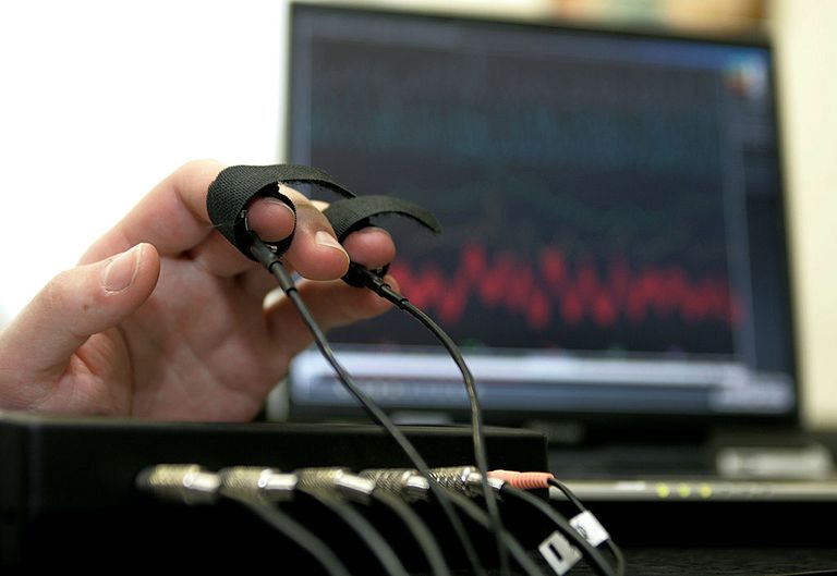 A computerized polygraph machine being used in a simulated situation on February 26, 2007 in Moscow, Russia. Russian human rights activists oppose a bill in Moscow's city legislature that would allow companies to give prospective employees lie detector tests.